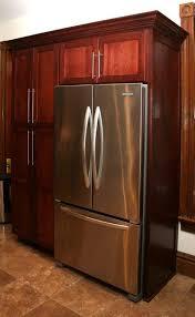 Kitchen Cabinets Refrigerator Cherrywood Kitchen Cabinet Pantry With Built In Refrigerator