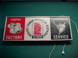 Vintage Lighted Tecumseh Engines Factory Sign | Collectors Weekly