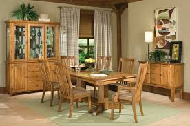 Dining Room Set With China Cabinet Intercon Highland Park 7 Piece Dining Room Table Trestle Table 2