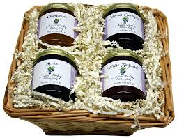on image for larger view wine jelly gift basket our napa valley