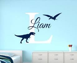 dinosaur wall decal customize name dinosaur wall decals for boys bedroom kids room nursery wall art dinosaur wall decal