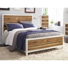 Modus Montana California King Platform Bed in White and Natural ...