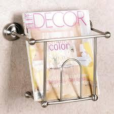 wall mount magazine rack toilet. Bathtub Magazine Holder Rack White Hanging Vintage  Wire Metal Wall Mounted . Mount Toilet R