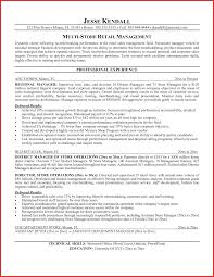 Retail Manager Resume Samples Najmlaemah Com