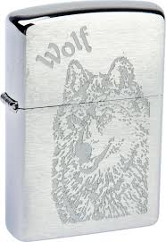 "<b>Зажигалка Zippo</b> ""<b>Classic</b>. <b>Wolf</b>"", 3,6 х 1,2 х 5,6 см — купить в ..."
