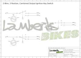 ignition switch lamberts bikes 3 wire 3 position motorbike ignition switch wiring diagram