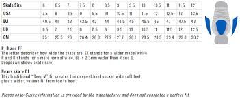 Bauer Youth Hockey Skate Size Chart Best Picture Of Chart