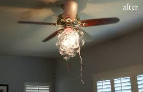 bubble chandelier fan