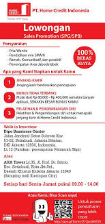 Small Picture Kerja PTHome Credit Indonesia SPGSPB Juli 2015