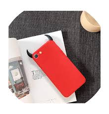 Samsung Note 3 Red Light Amazon Com Soft Silicone Case Devil Horns Demon Angle Cover