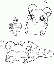 Coloring Pages Cute Hamster
