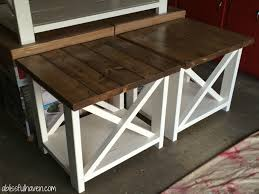 White Coffee Table And End Tables Coffee Table Diy Farmhouse End Tables Projects Pinterest White