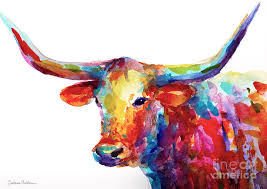 long horn painting texas longhorn art by svetlana novikova
