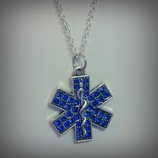 rhinestone star of life necklace