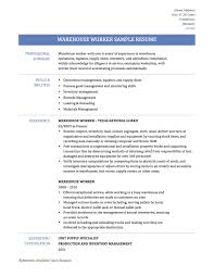 Warehouse Duties Resume Cover Letter Sample Retail Customer Service
