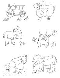 Small Picture Farm Animals Coloring Pages Free Printable Farm Crafts for Kids