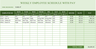 employee schedules templates trying to better scheduling your employees in 2017 latest and