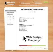 027 Template Ideas Free Web Design Proposal Graphic Layout