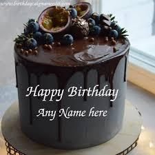 happy birthday lava chocolate cake with