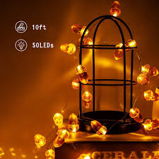 Fall Color String Lights Christmas Acorn String Lights Fall Decor 10ft 50 Led 3d Acorn Lights Battery Powered Fairy String Lights For Thanksgiving Home Party Bedroom Birthday