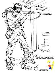 Soldier Coloring Pages Redleatherbookinginfo