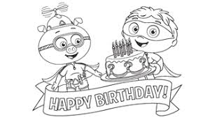 Small Picture Super Why Coloring Pages Birthday Party Ideas for Kids PBS Parents