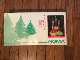 Ebay Vintage Christmas Bubble Lights Holiday Time Christmas C7 Classic Bubble Lights Set Of 7 With Box