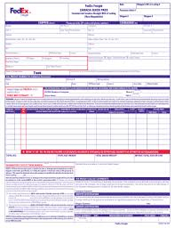 Bill Of Lading Free Form Fedex Commercial Invoice Pdf Fillable Form Fill Out And
