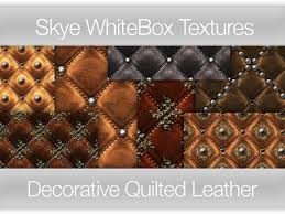 Second Life Marketplace - Decorative Quilted Leather - Skye ... & Decorative Quilted Leather - Skye WhiteBox Full PermsTextures Adamdwight.com