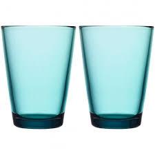<b>Набор больших стаканов</b> Kartio, бирюзовый купить с нанесением ...