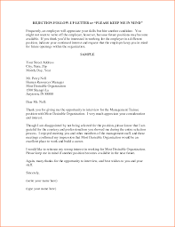 Interview Follow Up Letter