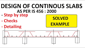 Two Way Continuous Slab Design Design Of Continuous One Way Slabs Checks Detailing Included Is 456 2000 Lsm