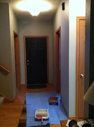paint the trim white and all the doors black i already painted the back of my garage door and front doors black as shown in the pics