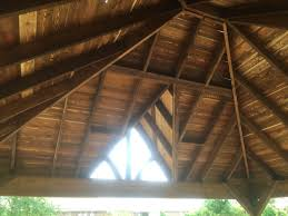 20 x 18 free standing hip and ridge with gable in allen 9 12 pitch