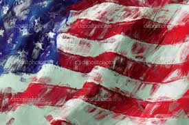 abstract american flag painting