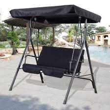 image of 2 person chair outdoor patio swing design