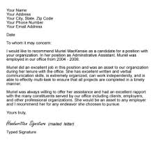 sample recommendation letter format referenceletter ...