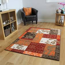 Large Living Room Rugs New Warm Red Orange Modern Patchwork Rugs Small Large Living Room