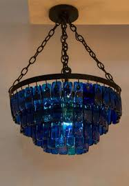 Mexican Chandelier Image 2 In 2020 Blue Chandelier Glass