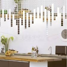 Small square mosaic home decoration diy stereo the mirror wall stickers