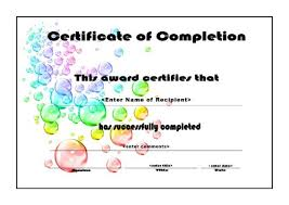Certificates Of Completion For