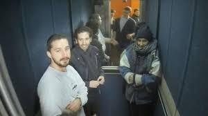 people inside elevator. buffering people inside elevator u