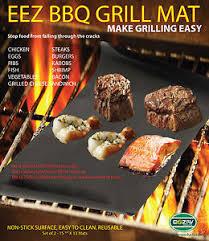 BBQ GRILL MAT As Seen TV Make Grilling Easy 2 Mats Per