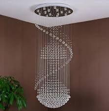 stairs chandelier lamp modern simple duplex villa living room crystal light