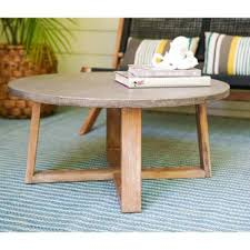 round wood outdoor coffee tables