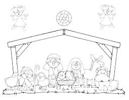 Nativity Coloring Sheets For Preschoolers L6148 Nativity Coloring