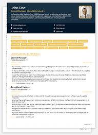 Resume Cv Sample For Job In Word Format Download Examples