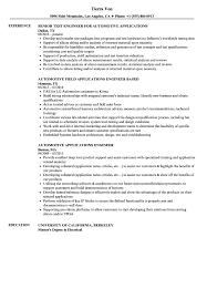 Automotive Engineer Resumes Automotive Applications Engineer Resume Samples Velvet Jobs
