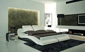 modern bedroom furniture miami fl. s608 contemporary white eco-leather bed modern bedroom furniture miami fl