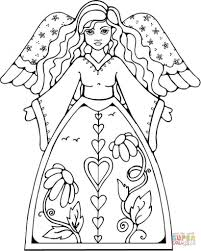 Angel Coloring Pages For Kids Drawing Book Free Page Printable